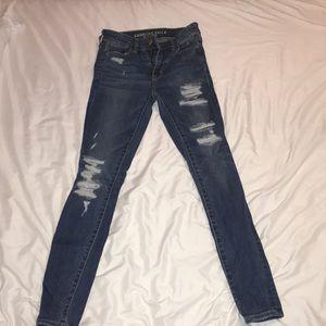American Eagle Super Stretch X Ripped Jeans